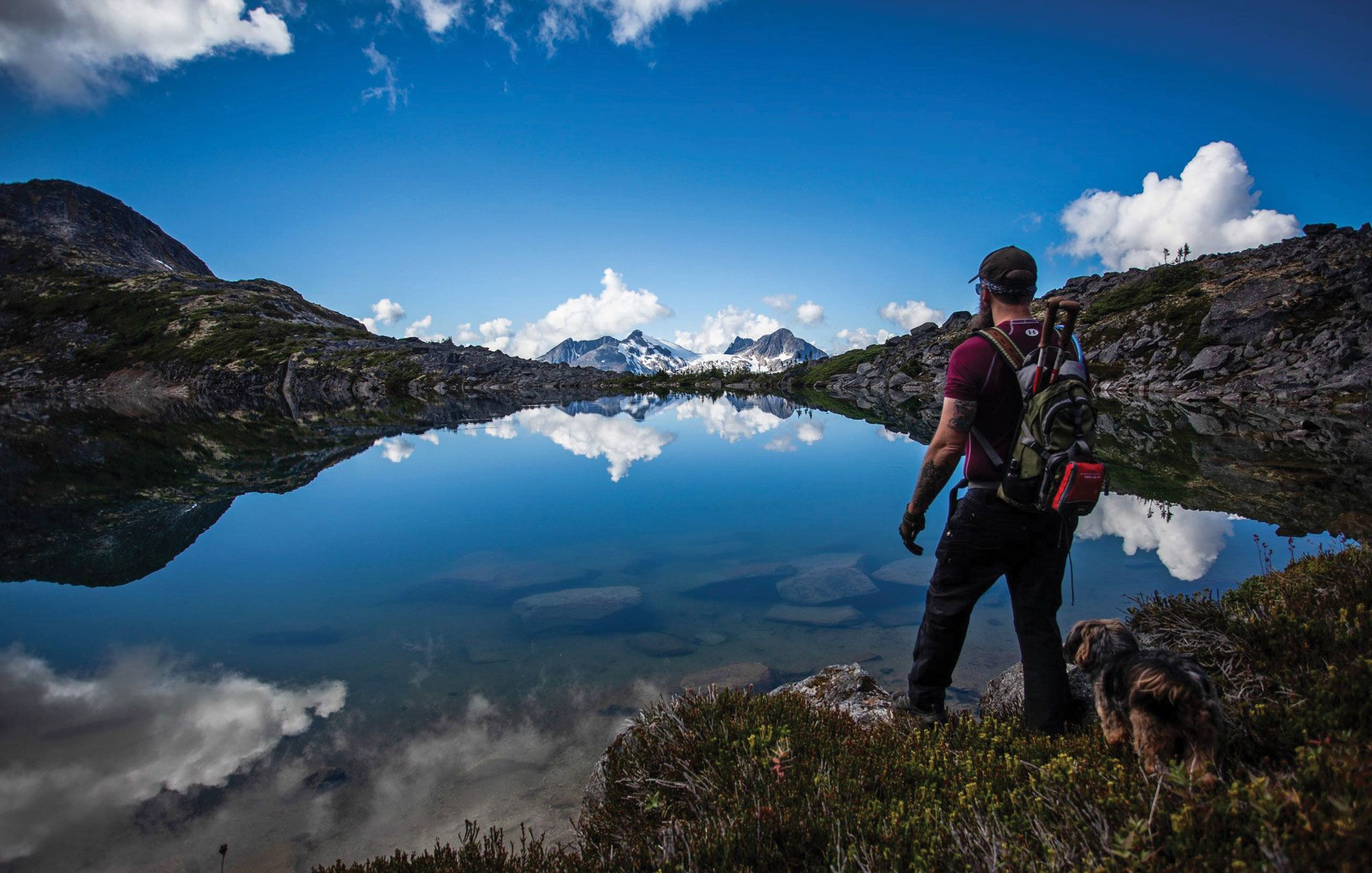 Skagway's mayor, Andrew Cremata, pictured here hiking in the Skagway area, said that locals like him are mobilizing to get friends and family to come visit the cruise-dependent town this summer.